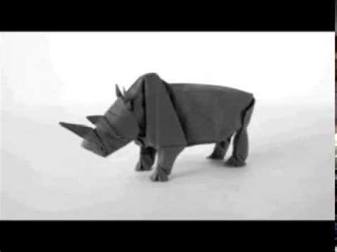 origami rhinoceros how to make an origami rhino origami rhinoceros