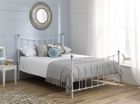 white metal bed bed frame white dreams