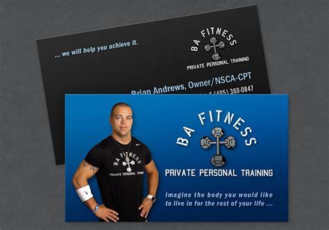 ba fitness business card design portfolio colored bean
