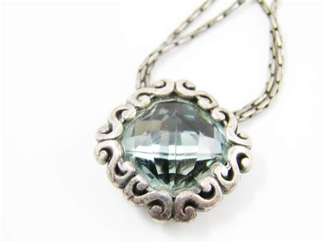 rhinestone pendants jewelry brighton jewelry blue rhinestone pendant necklace