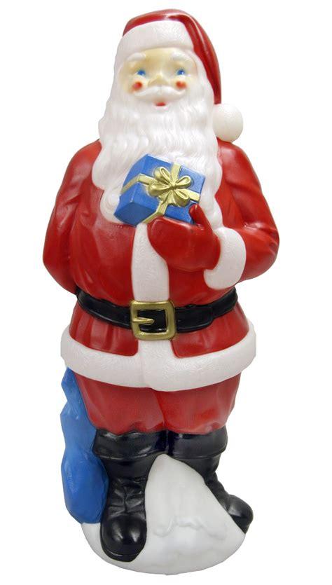 mold plastic outdoor decorations general foam plastics 34 quot outdoor light up mold santa