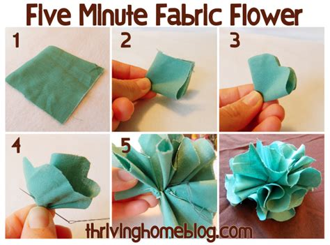 how to make fabric five minute fabric flowers thriving home
