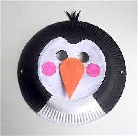 penguin paper plate craft kook crafts uses a paper plate paper and paint to