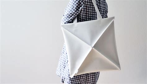 origami bags a clever shape shifting bag inspired by origami co design