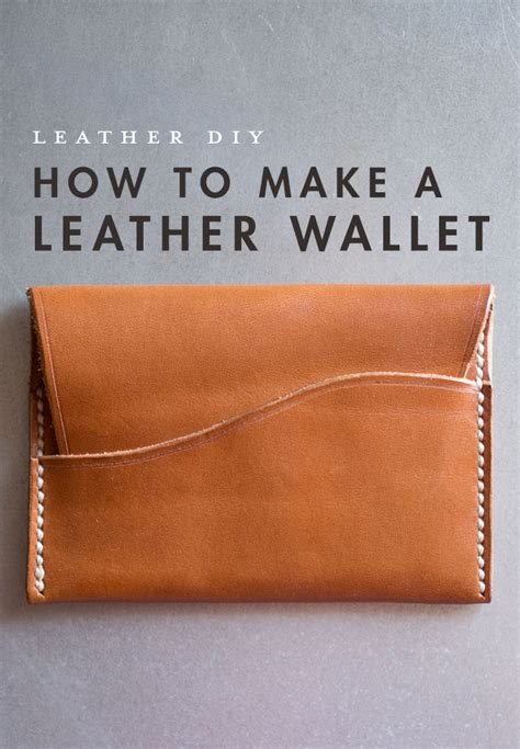 how to make a purse with how to make a leather wallet primer