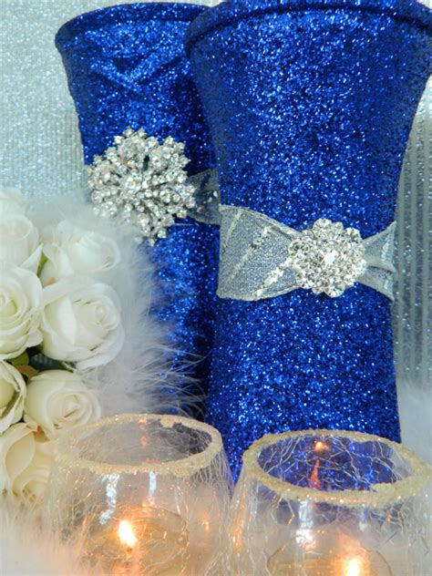blue and silver centerpieces wedding decorations silver wedding centerpieces by kpgdesigns