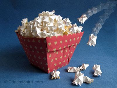 origami popcorn box origami how to make and pop paper popcorn