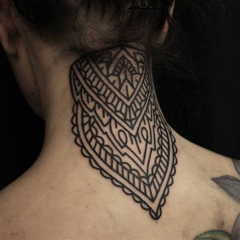 63 attractive mandala neck tattoos