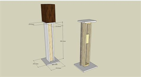wooden stands woodworking plans wooden speaker stands plans woodproject