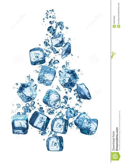 tree water tree forming cubes stock photo image 35264666