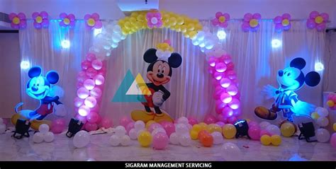 decorations photos mickey mouse themed birthday decoration le royal park