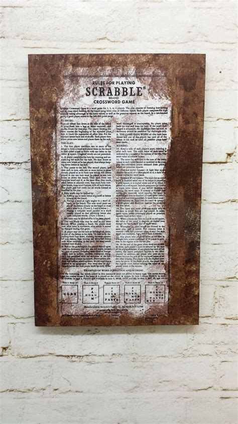 scrabble guidelines scrabble tile distressed vintage style by
