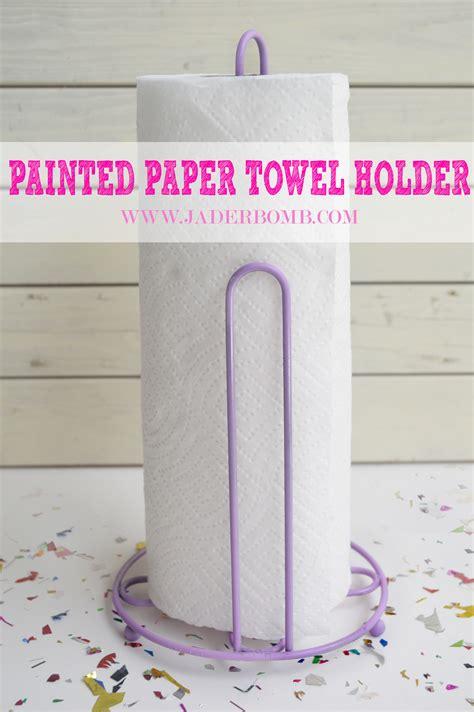 paper towel holder craft ideas painted paper towel holder jaderbomb