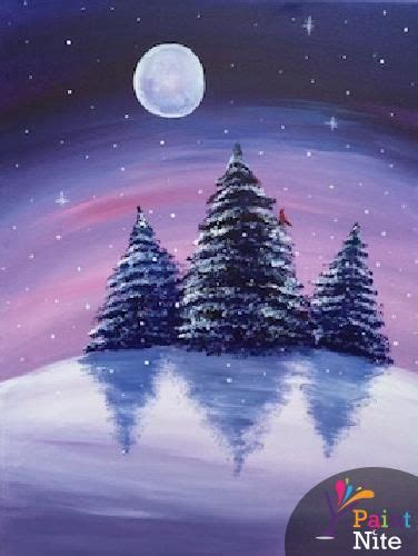 paint nite duration 17 best ideas about winter painting on