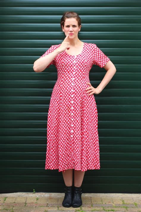 a dress upcycle a dress from cotton frock to tea dress miss thrifty