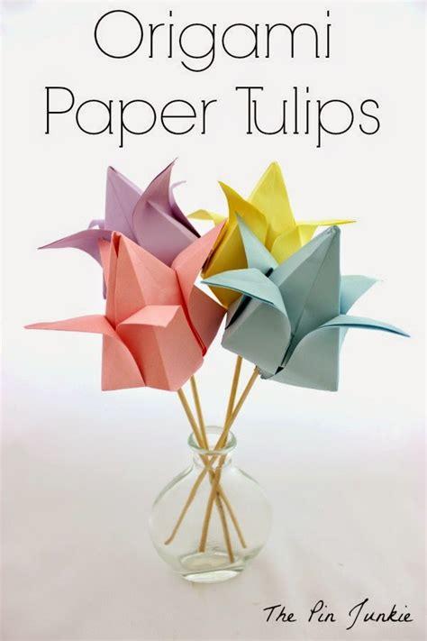 paper tulips origami origami paper tulips
