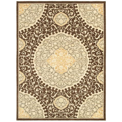 allen roth area rugs shop allen roth thorndale rectangular brown floral woven