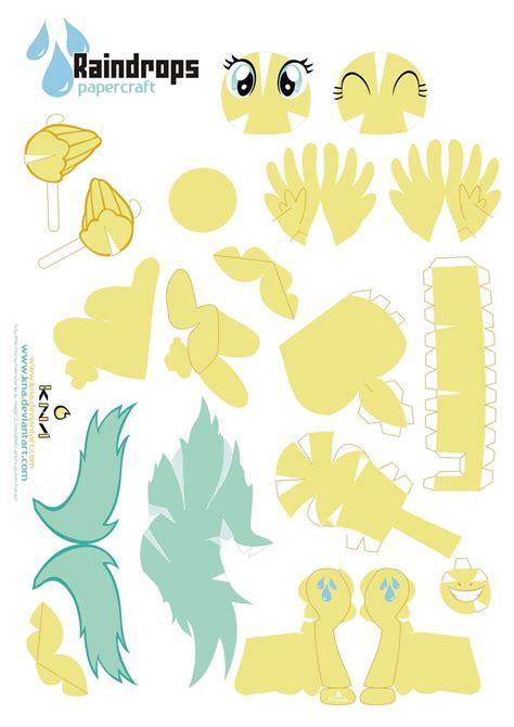 my pony paper crafts raindrops pony papercraft by kna deviantart on