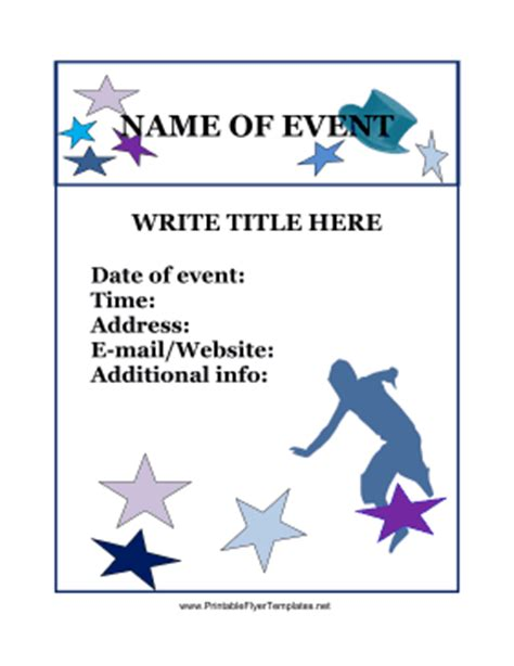 free printable flyers event flyer
