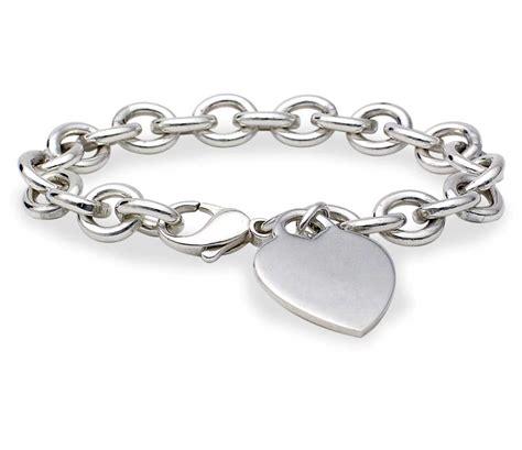 silver bracelet tag bracelet in sterling silver blue nile