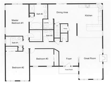 ranch plans with open floor plan open floor house plans and this floor plan the downing hill ranch style diykidshouses