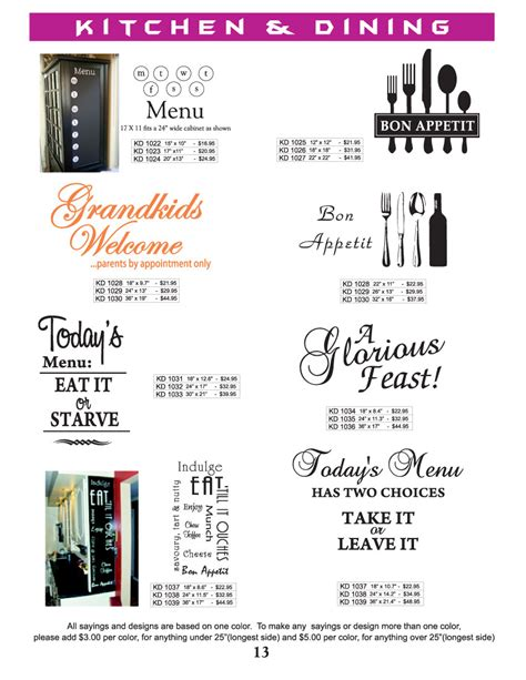 kitchen design quotes wall graphics vinyl graphics graphic designs lettering
