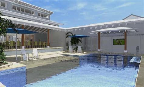home design resort house architect design 3d concept resort house freshwater