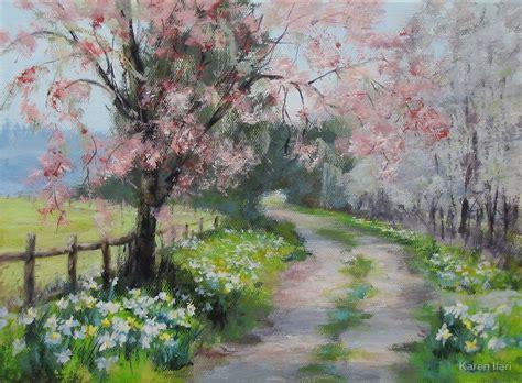 acrylic painting landscape quot original acrylic landscape painting walk quot by