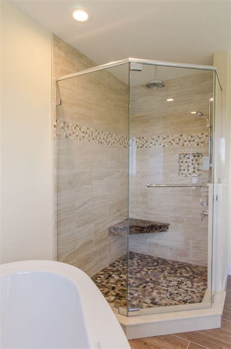 custom bathroom ideas shower ideas large custom tile shower with large tile