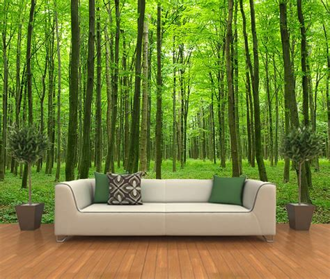 forest wall murals peel and stick photo wall mural decor wallpapers forest