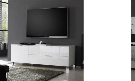 meuble tele blanc laque swyze