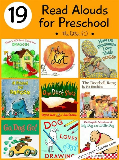 picture books for kindergarten 19 books for preschoolers a letter d book list the