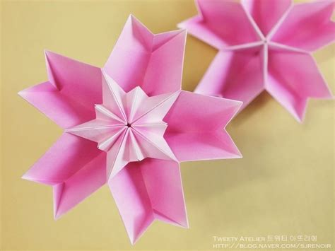 different origami flowers 종이접기 소품 벚꽃을 닮은 꽃모양 두번째 네이버 블로그 origami flowers