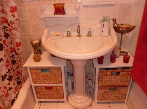 bathroom sinks with storage storage for small bathrooms with pedestal sinks befon for