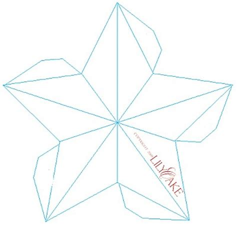 3d ornament templates folded paper pattern lena patterns