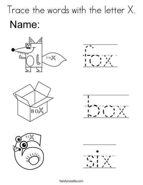 3 letter x words scrabble starts with x trace the words with the letter x coloring page twisty