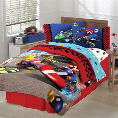 mario bedding set mario reversible comforter walmart