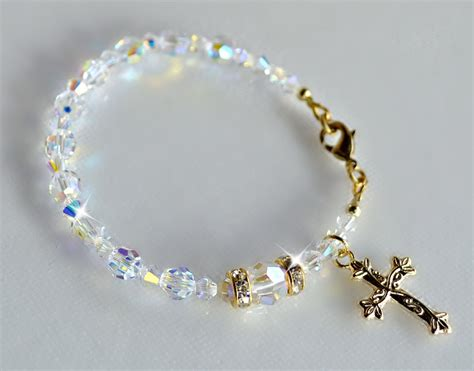 swarovski rosary swarovski one decade rosary