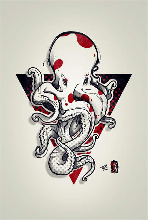 octopus tattoo design by remiismeltingdots on deviantart