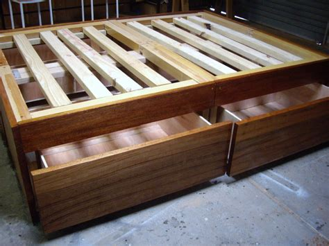 how to build bed frame how to build a diy bed frame with drawers storage