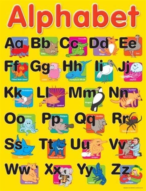 alphabet australia alphabet educational chart charts educational