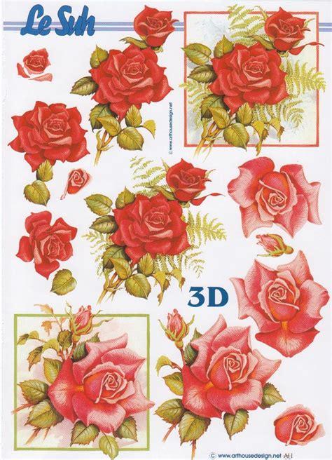 decoupage 3d pictures roses rouges 3d decoupage