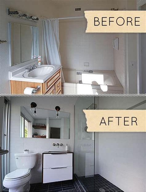 modern small bathrooms small modern bathroom remodel before after paperblog