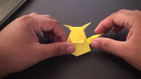 origami raichu origami daily 016 pikachu bookmark tcgames