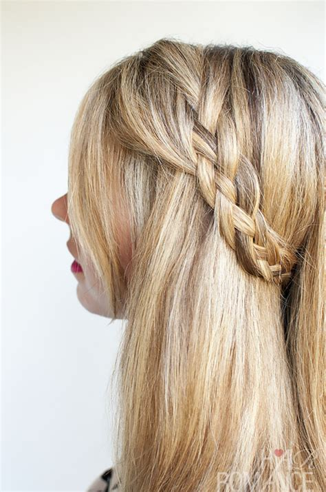 braid with in hair hairstyle tutorial four strand braids and slide up