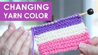 how to add to knitting how to change yarn colors while knitting