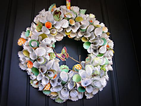 paper wreath craft awesome paper cone wreath giveaway