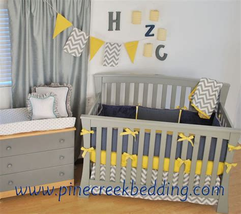 yellow grey and white crib bedding grey chevron navy yellow crib bedding grey crib