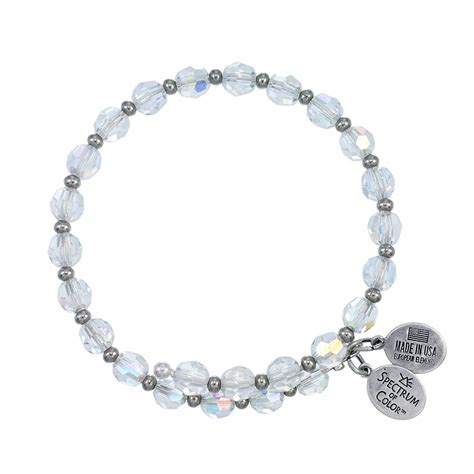 6mm bead bracelet 6mm clear ab with spacer bead wrap bracelet wind