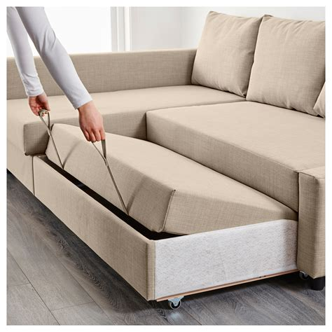 sofa bed and storage friheten corner sofa bed with storage skiftebo beige ikea